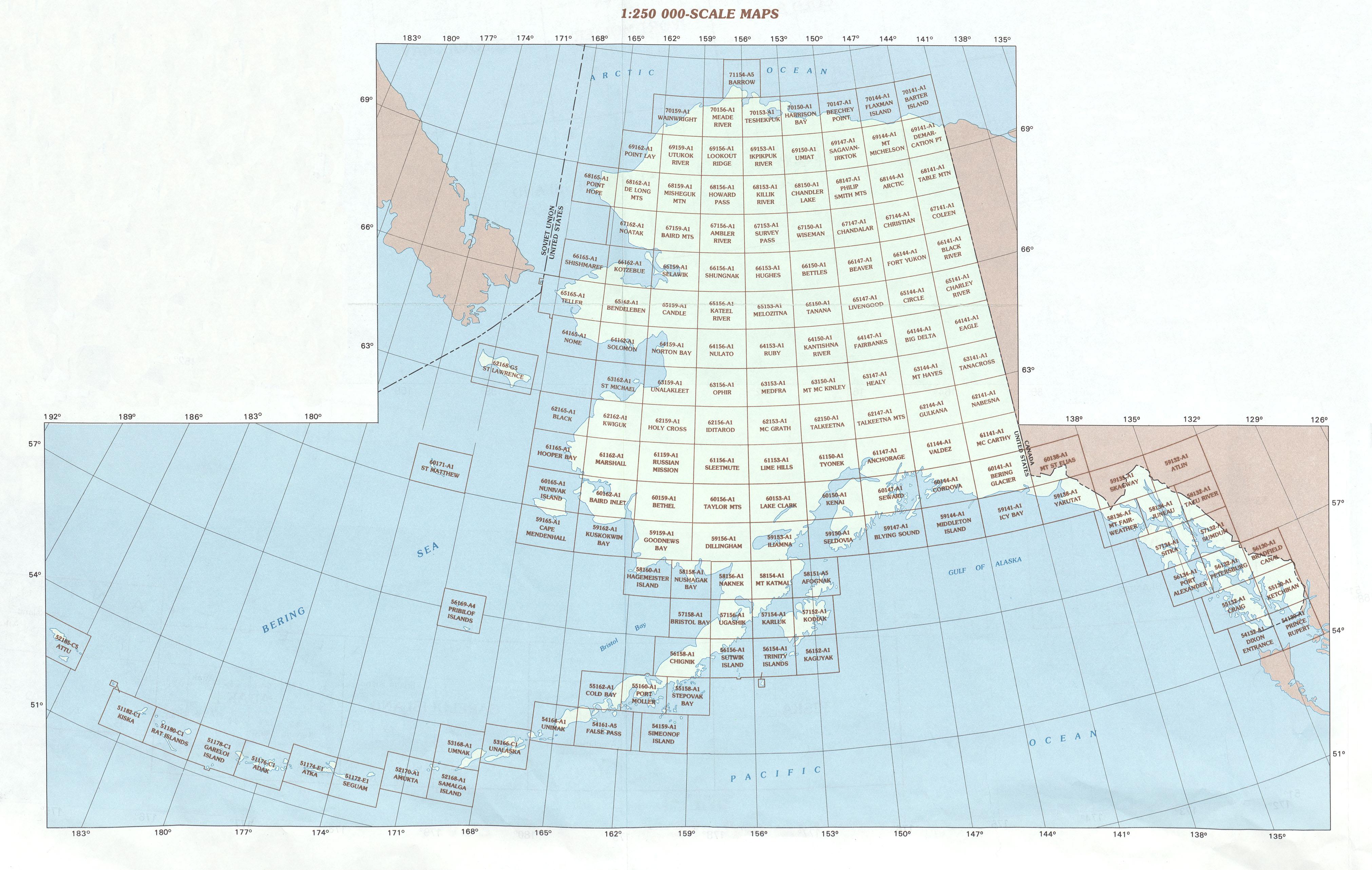 Index de Mapa Topográfico de Alaska
