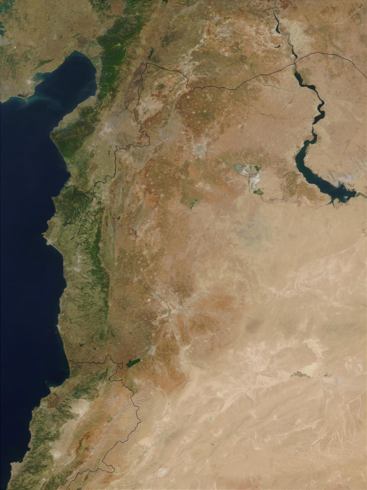 Inundación en el norte de Syria después del colapso de la presa de Zeyzoun