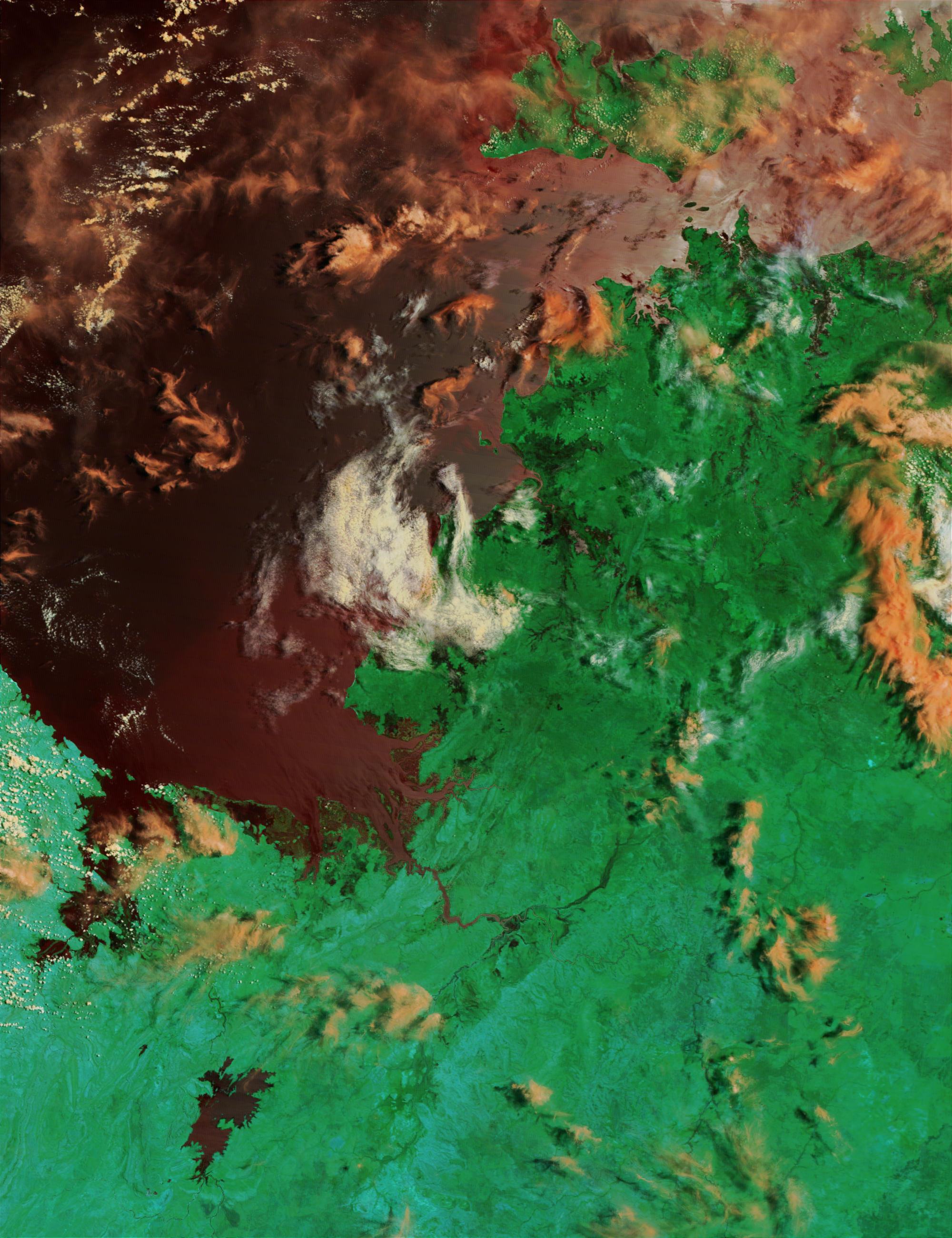 Inundaciones a lo largo de la costa noroeste de Australia