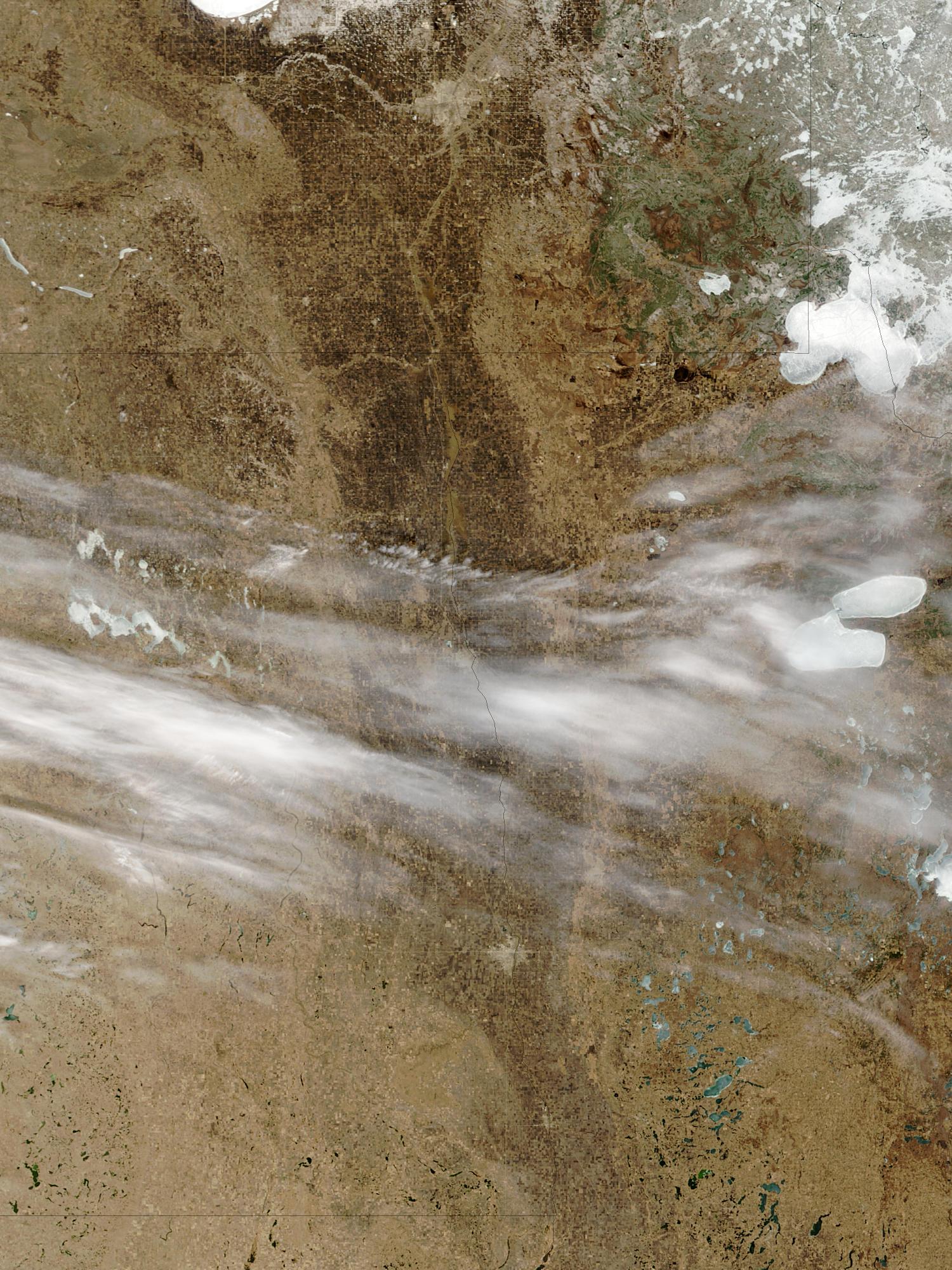 Inundaciones a lo largo del río Rojo, Dakota del Norte y Minnesota