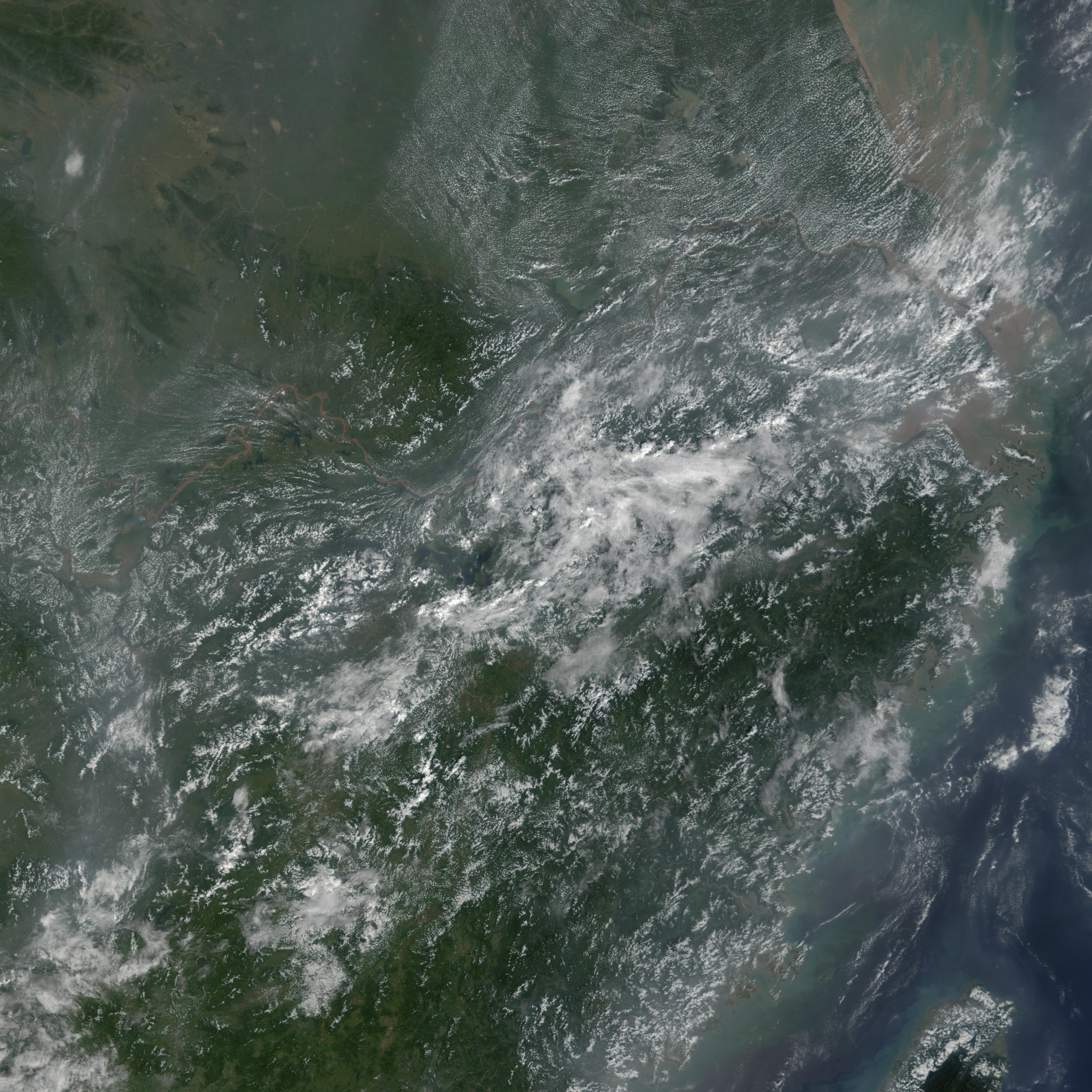 Inundaciones en China central