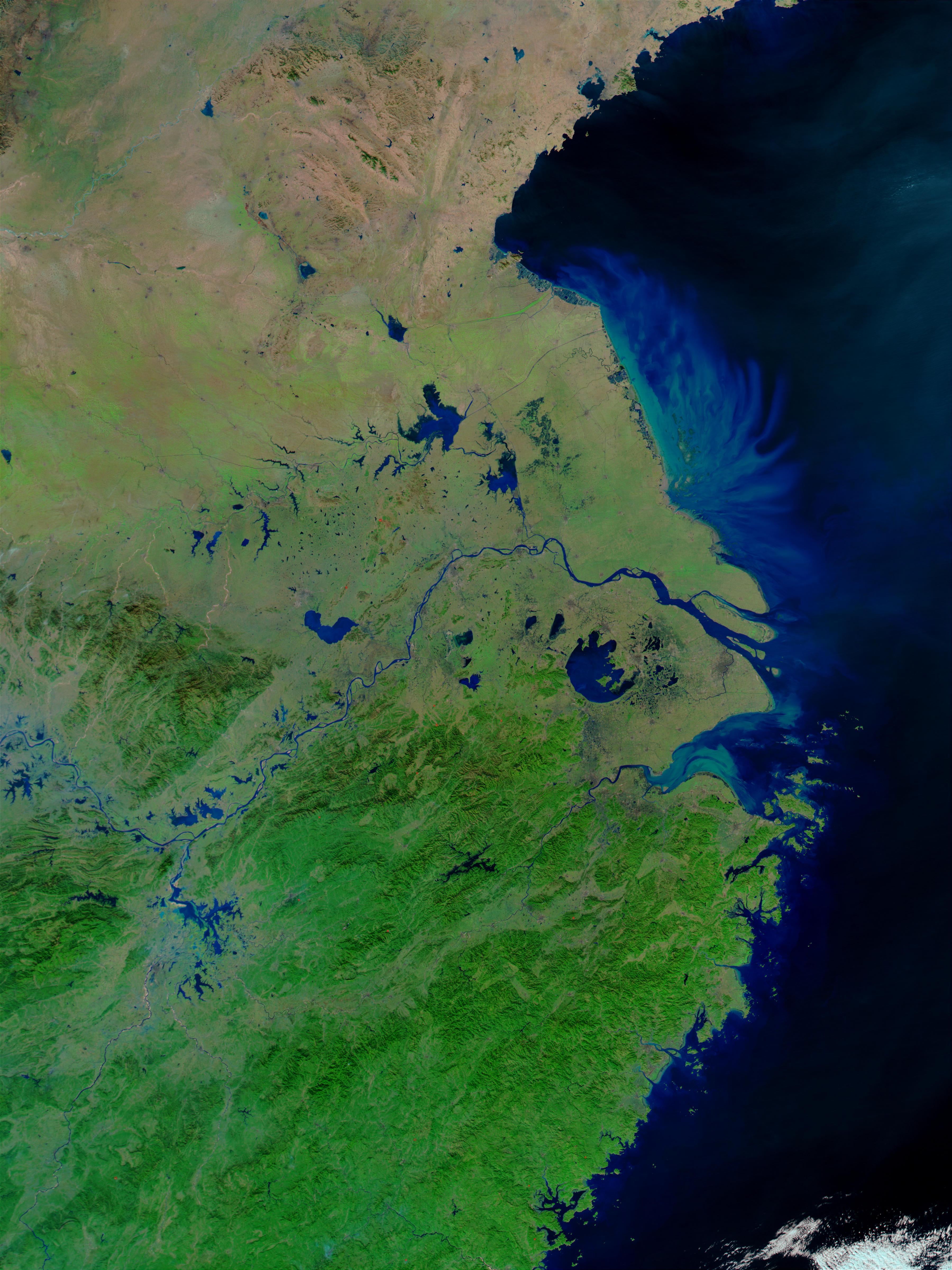 Inundaciones en China oriental