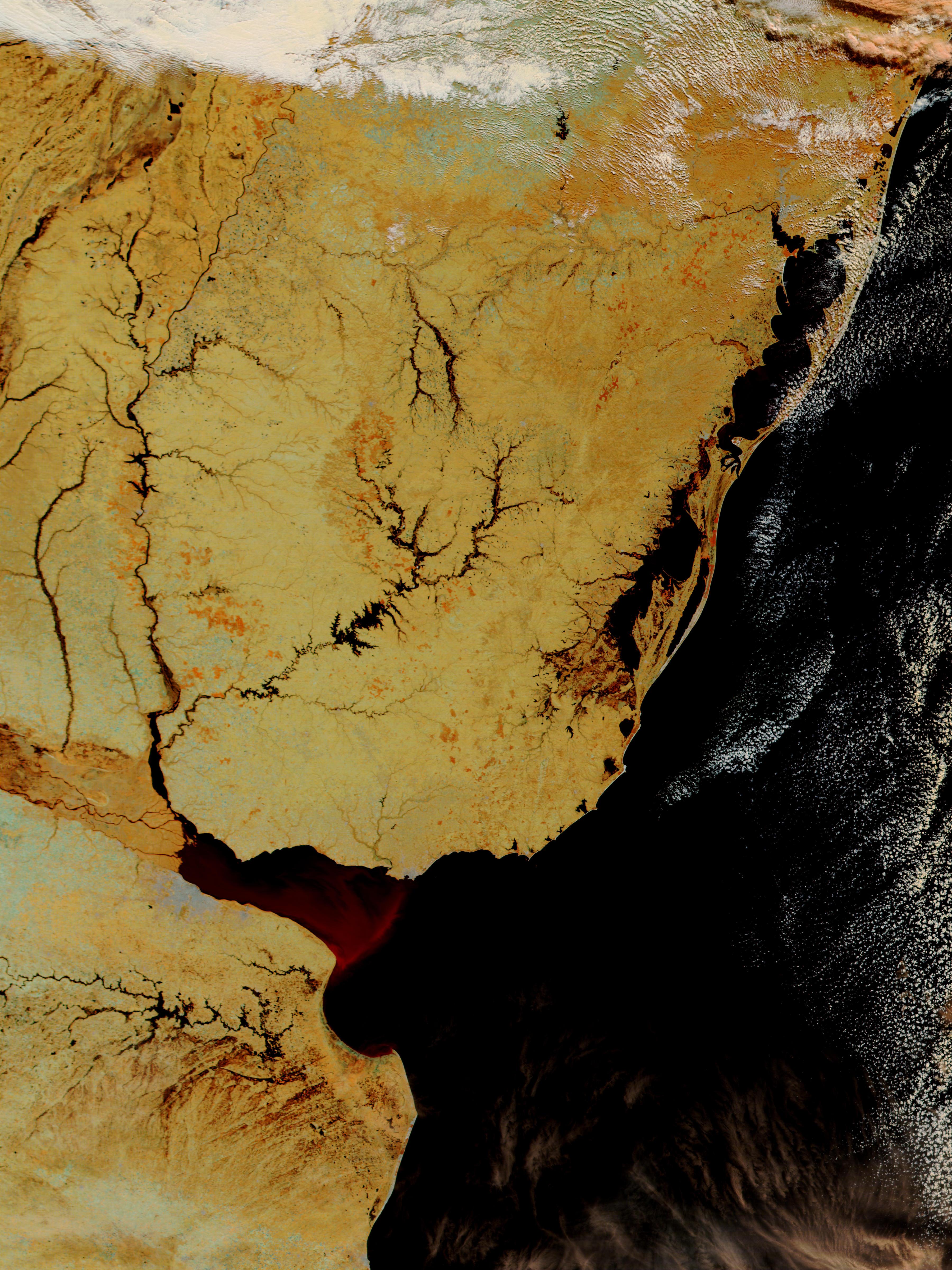 Inundaciones en Uruguay