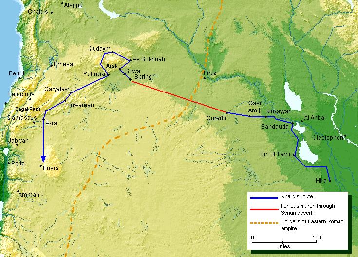 Invasión de Jalid ibn Walid a Siria 634