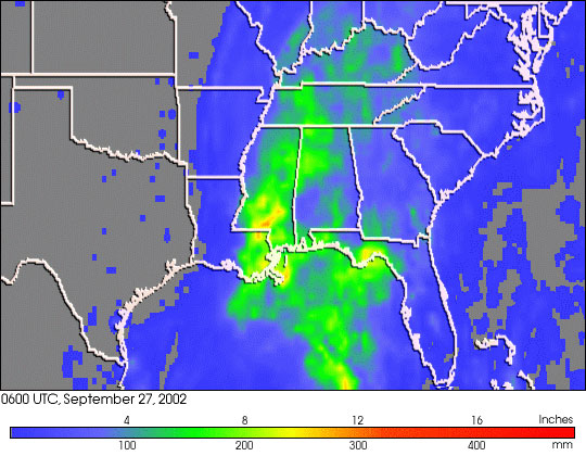 Isidore Dumps Heavy Rains on Southeastern U.S.