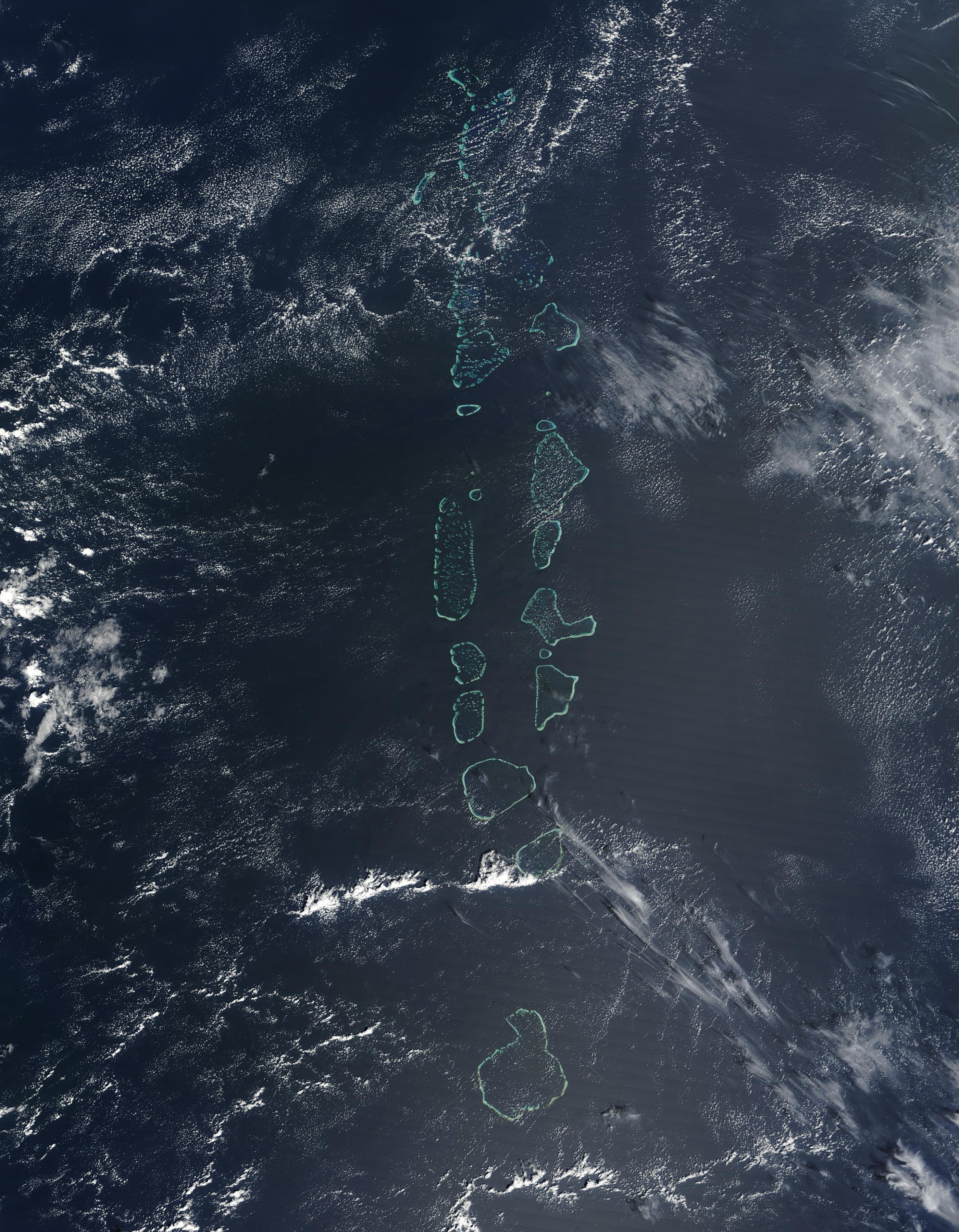 Islas Maldivas, Océano Índico