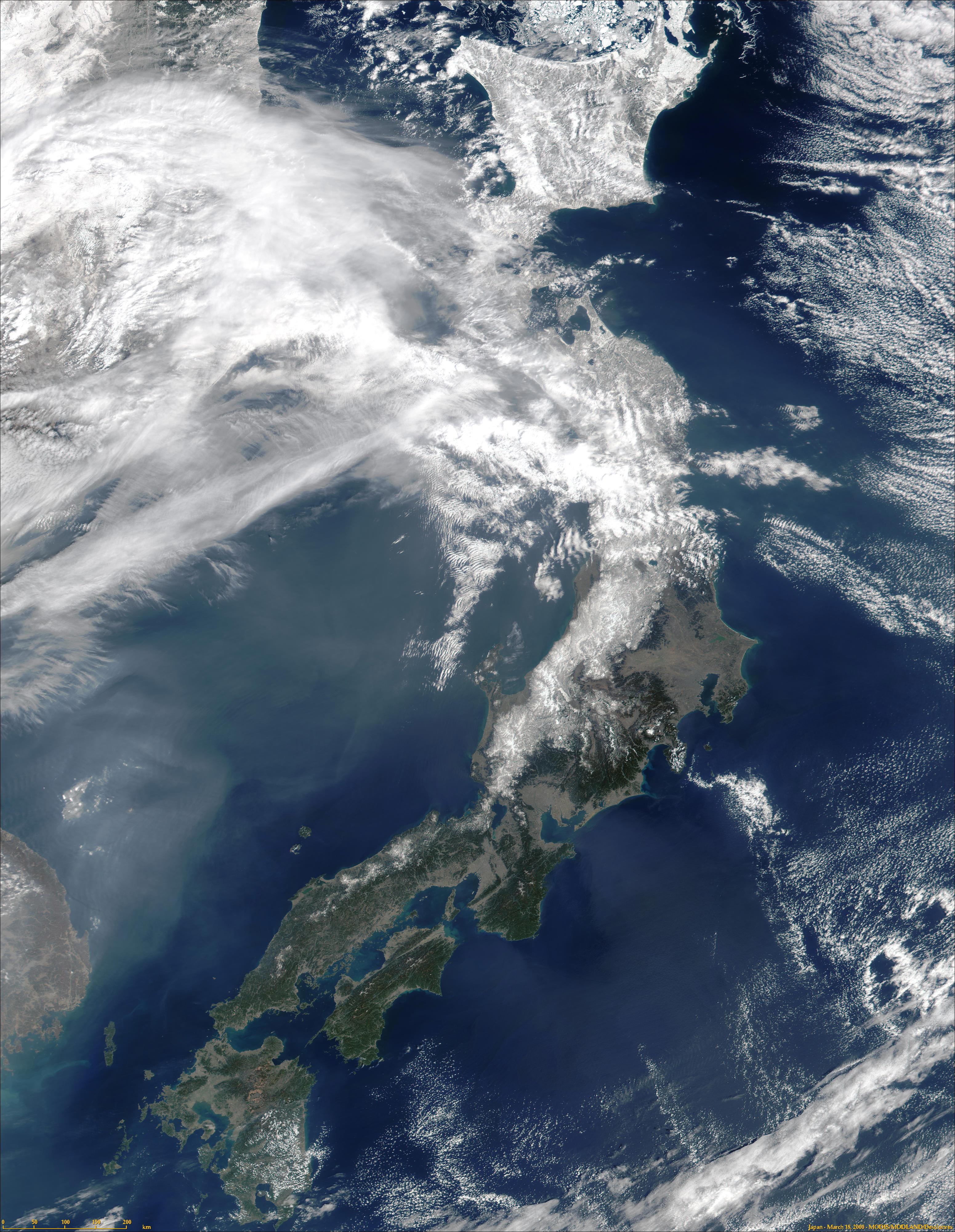Japón de MODIS