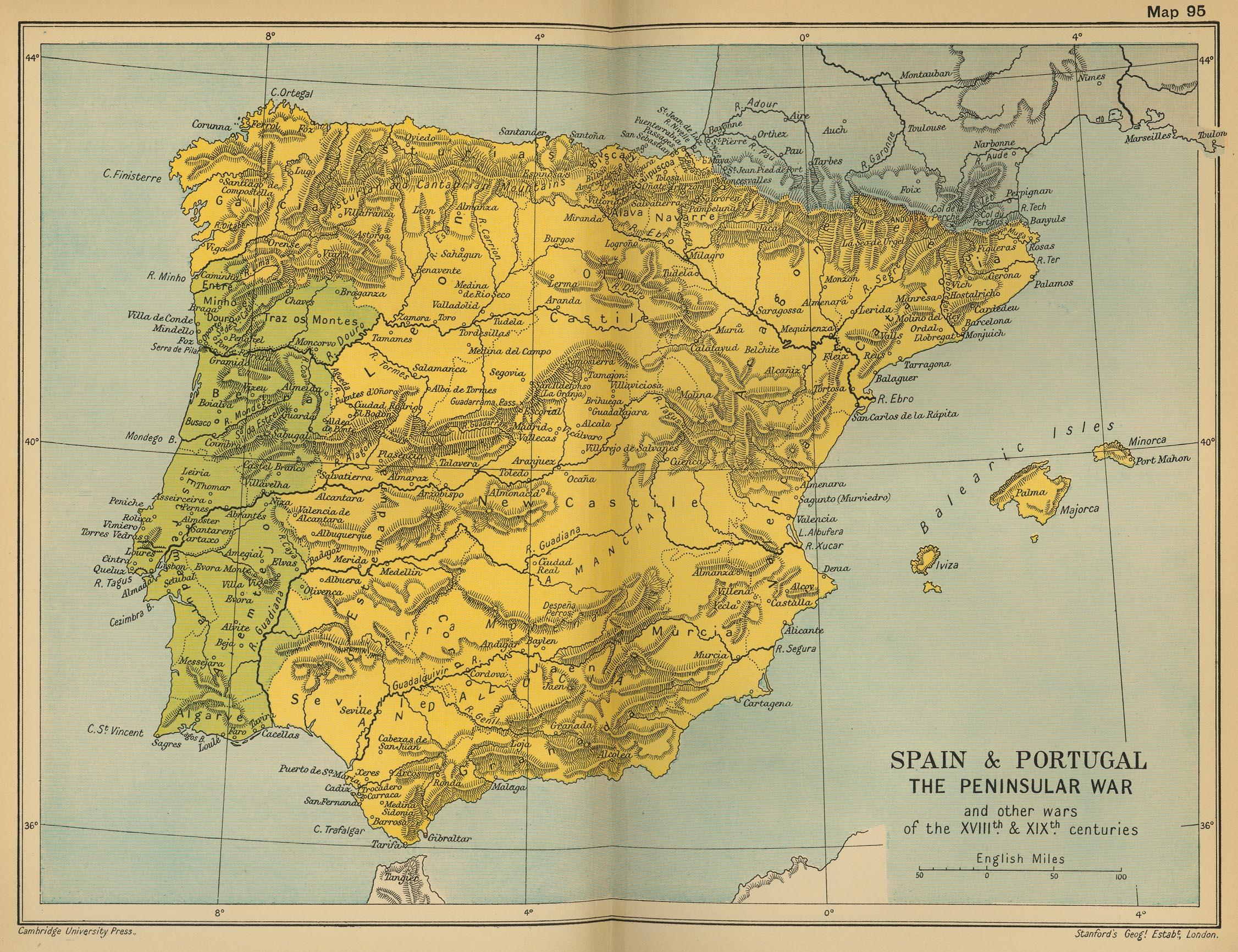 La Guerra de la Independencia o Guerra Peninsular España y Portugal 1808–1814