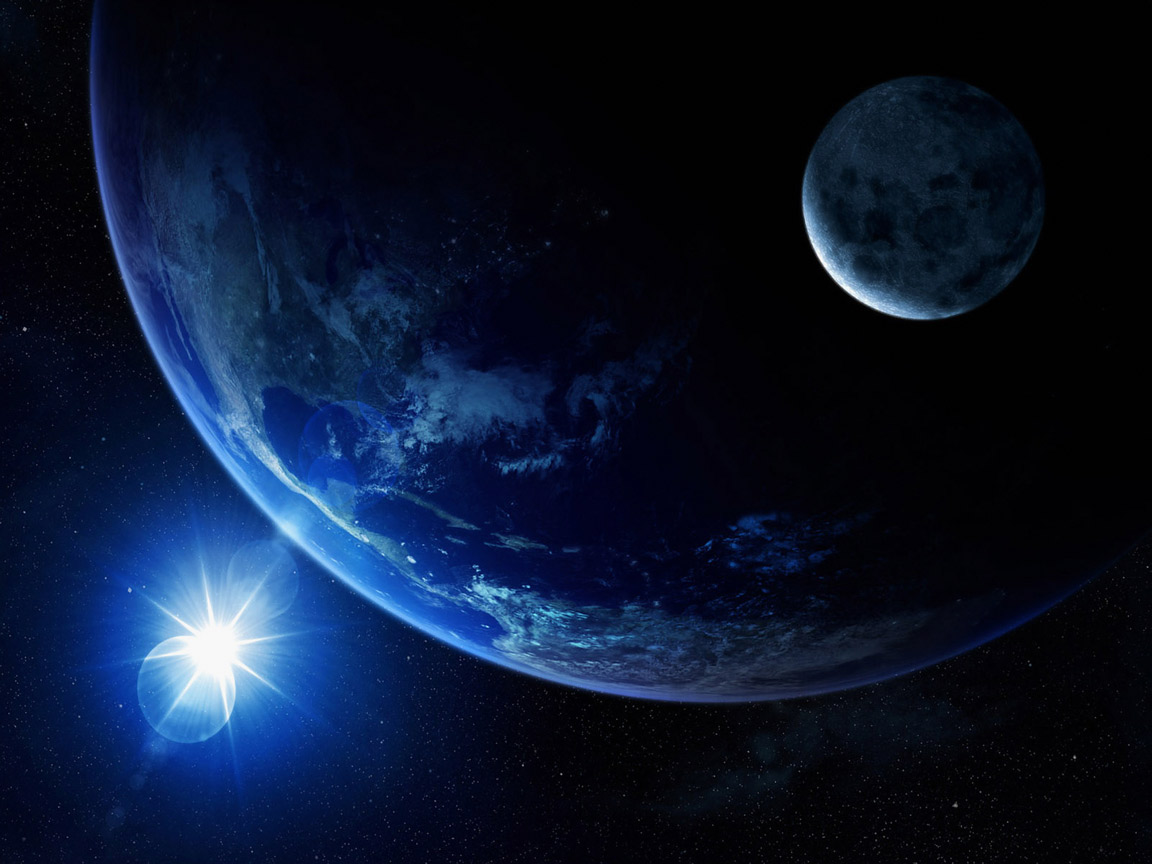 The Earth, a blue planet