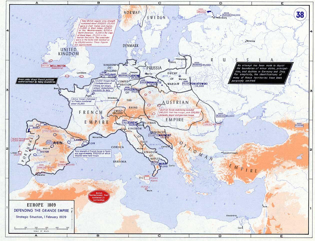 La situación estratégica de Europa en 1809