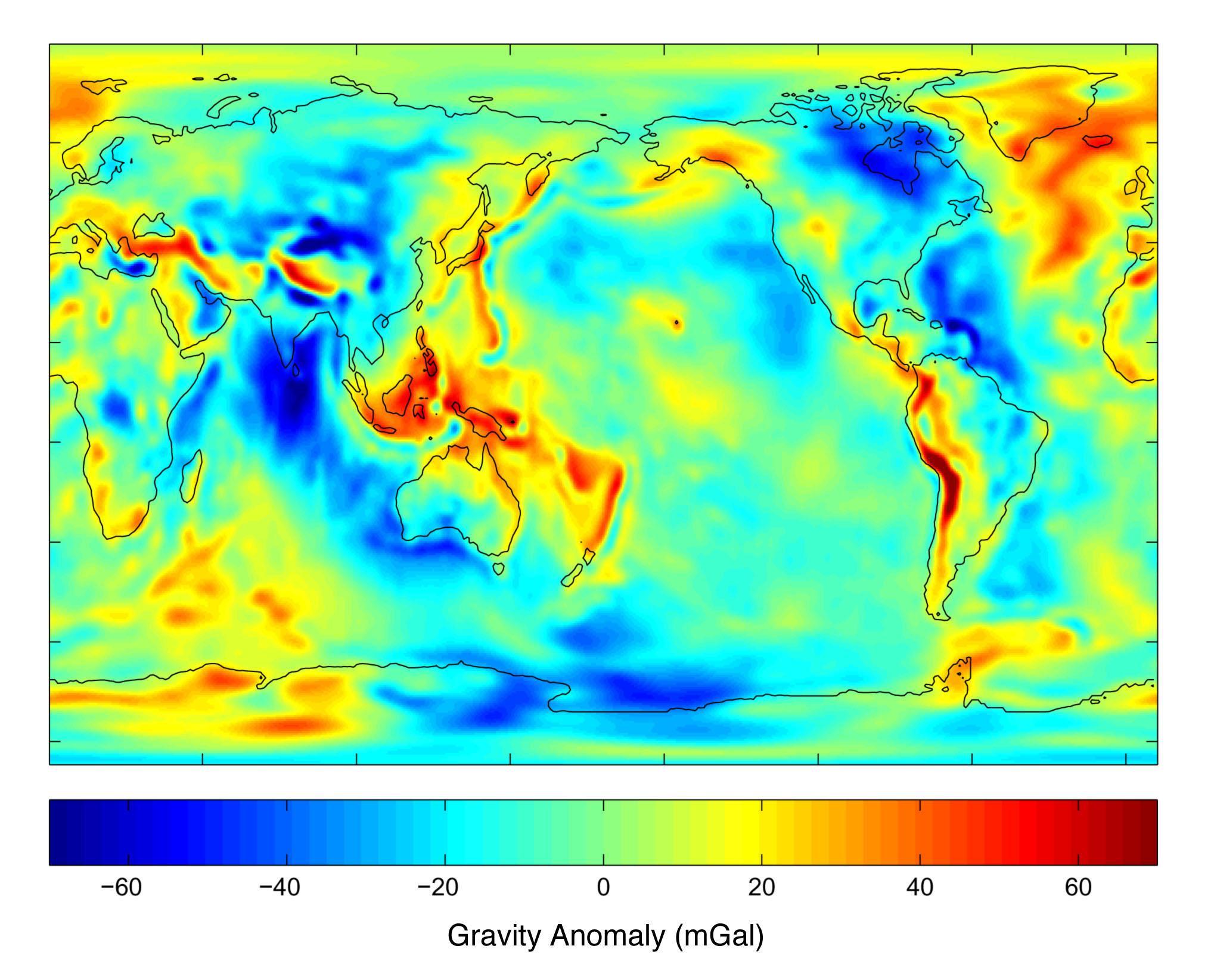 Las anomalías gravitatorias de la Tierra