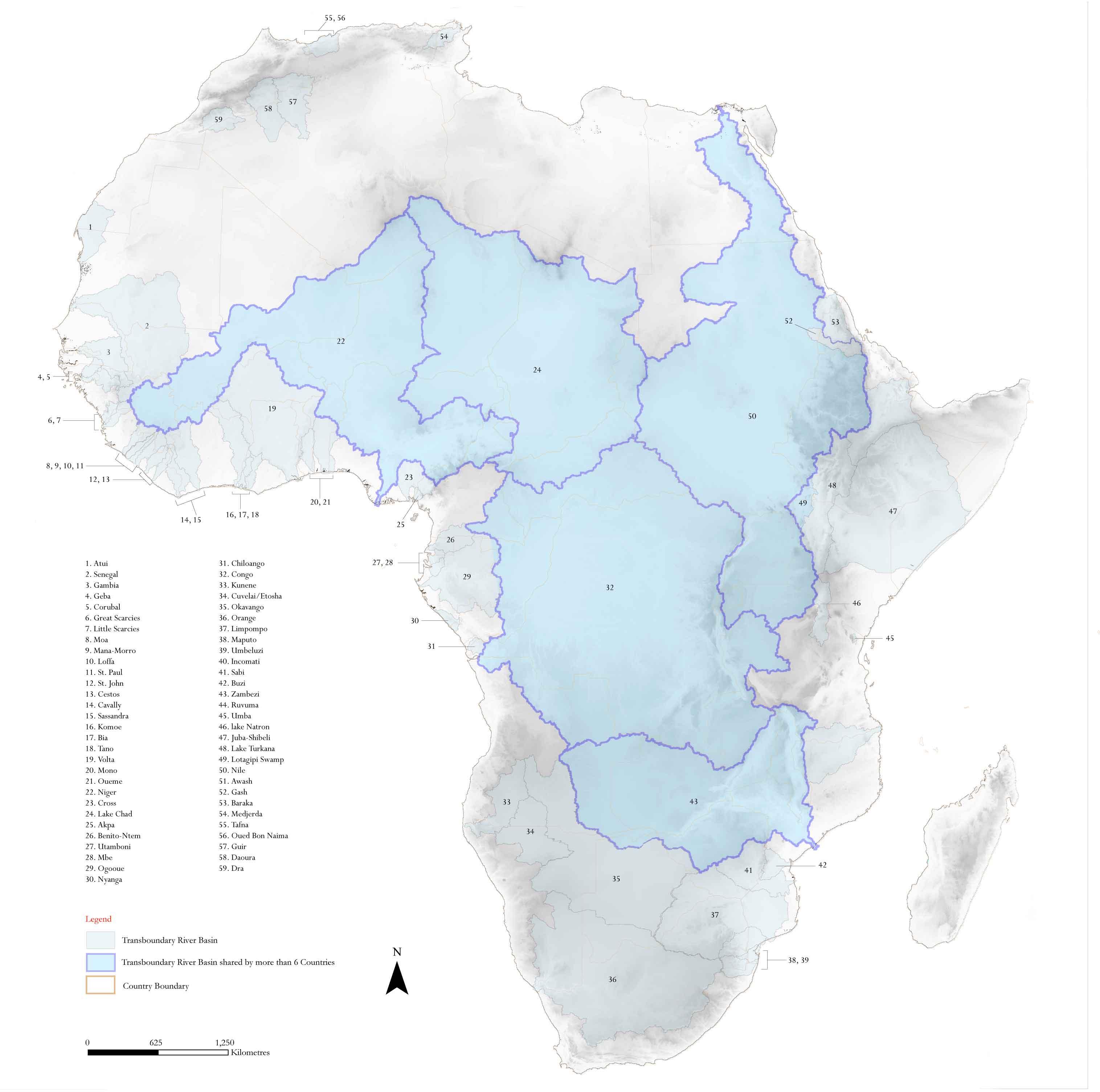 Las cuencas fluviales internacionales de África