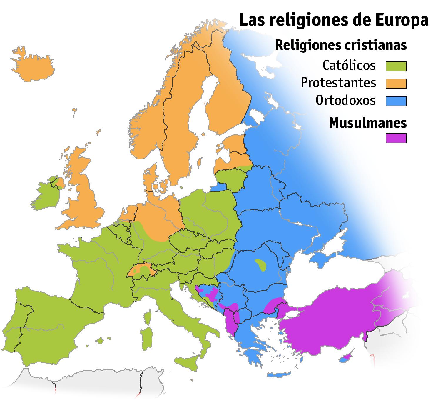 Las religiones de Europa 2005