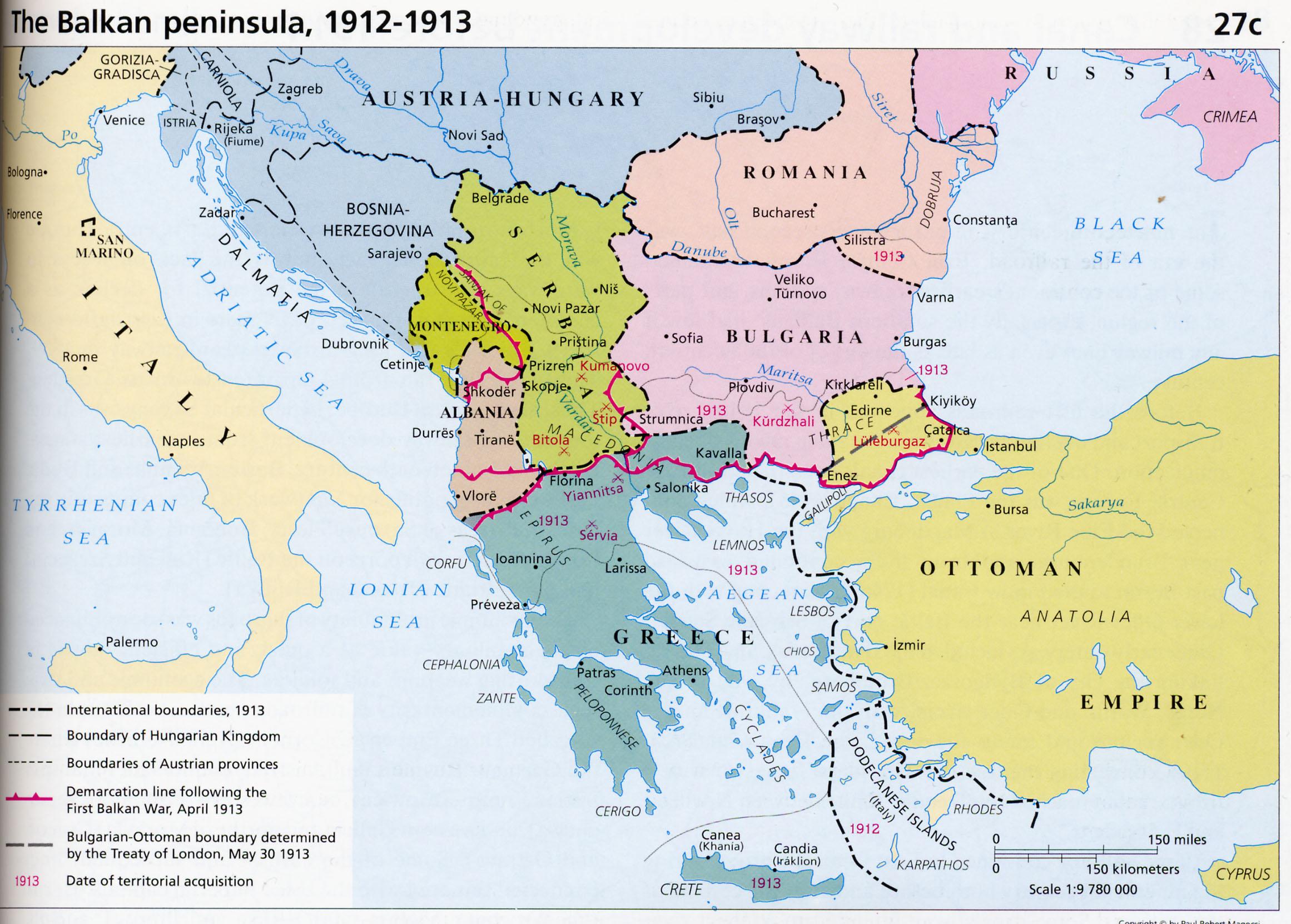 Los Balcanes 1913