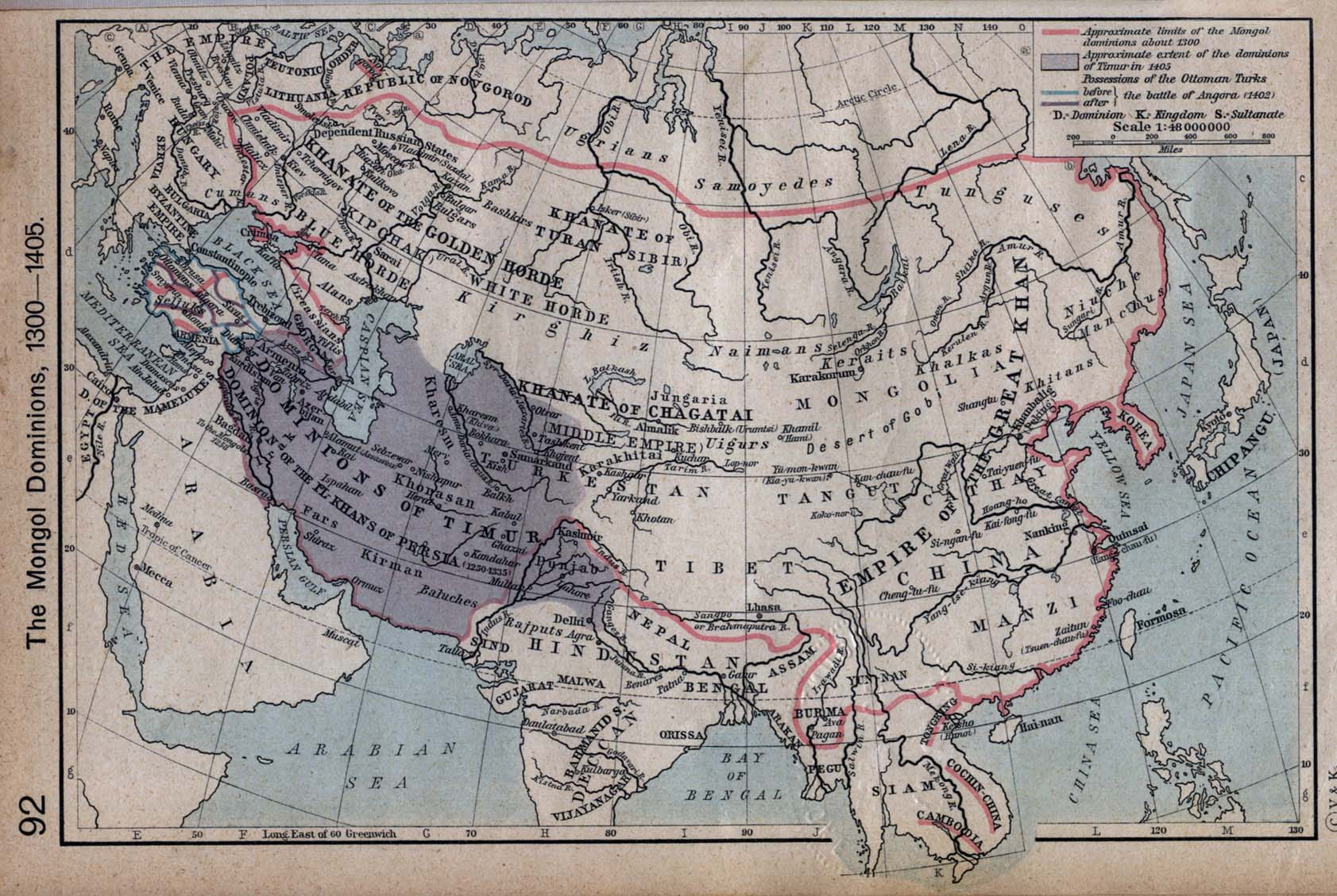 The Mongol Dominions 1300-1405