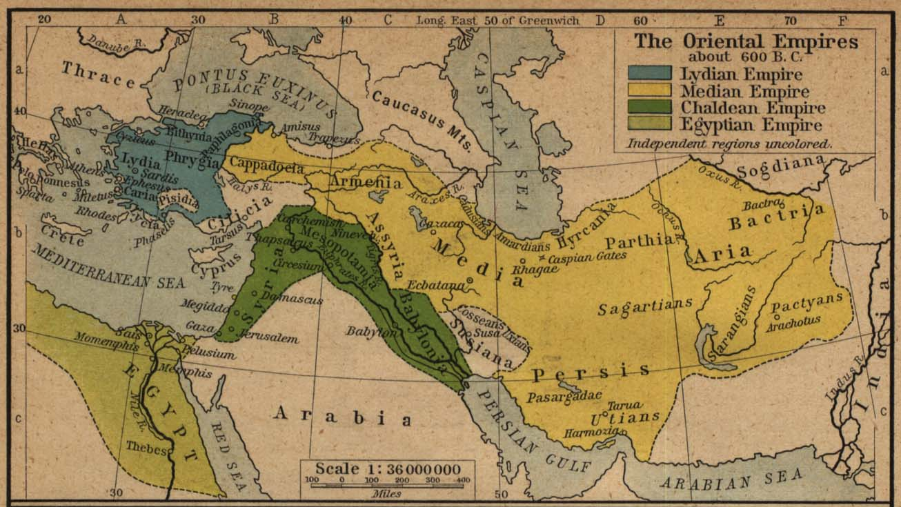 The Oriental Empires about 600 B.C.