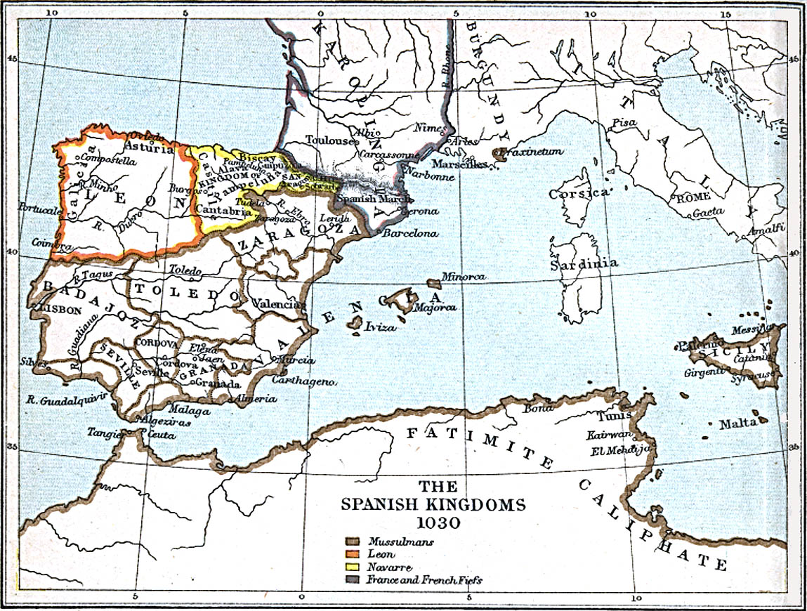 The Spanish Kingdoms 1030 A.D.
