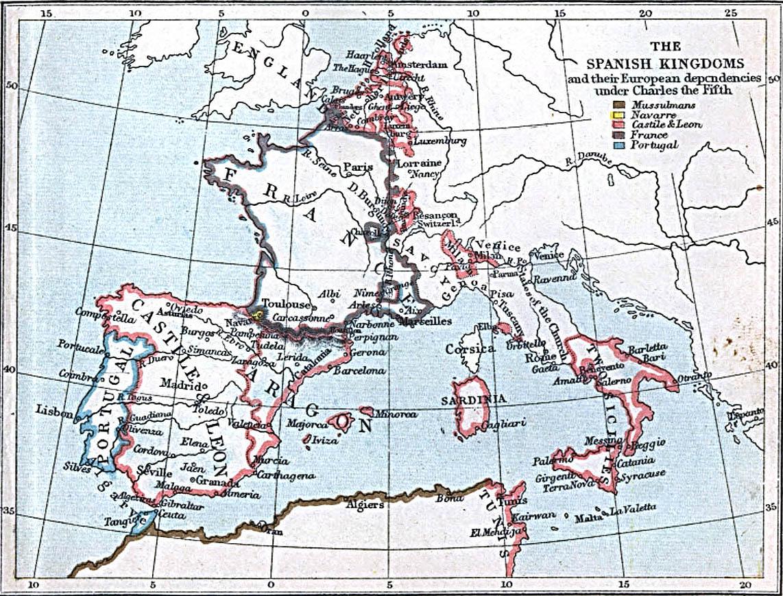 Los Reinos de España bajo Carlos V 1519-1556