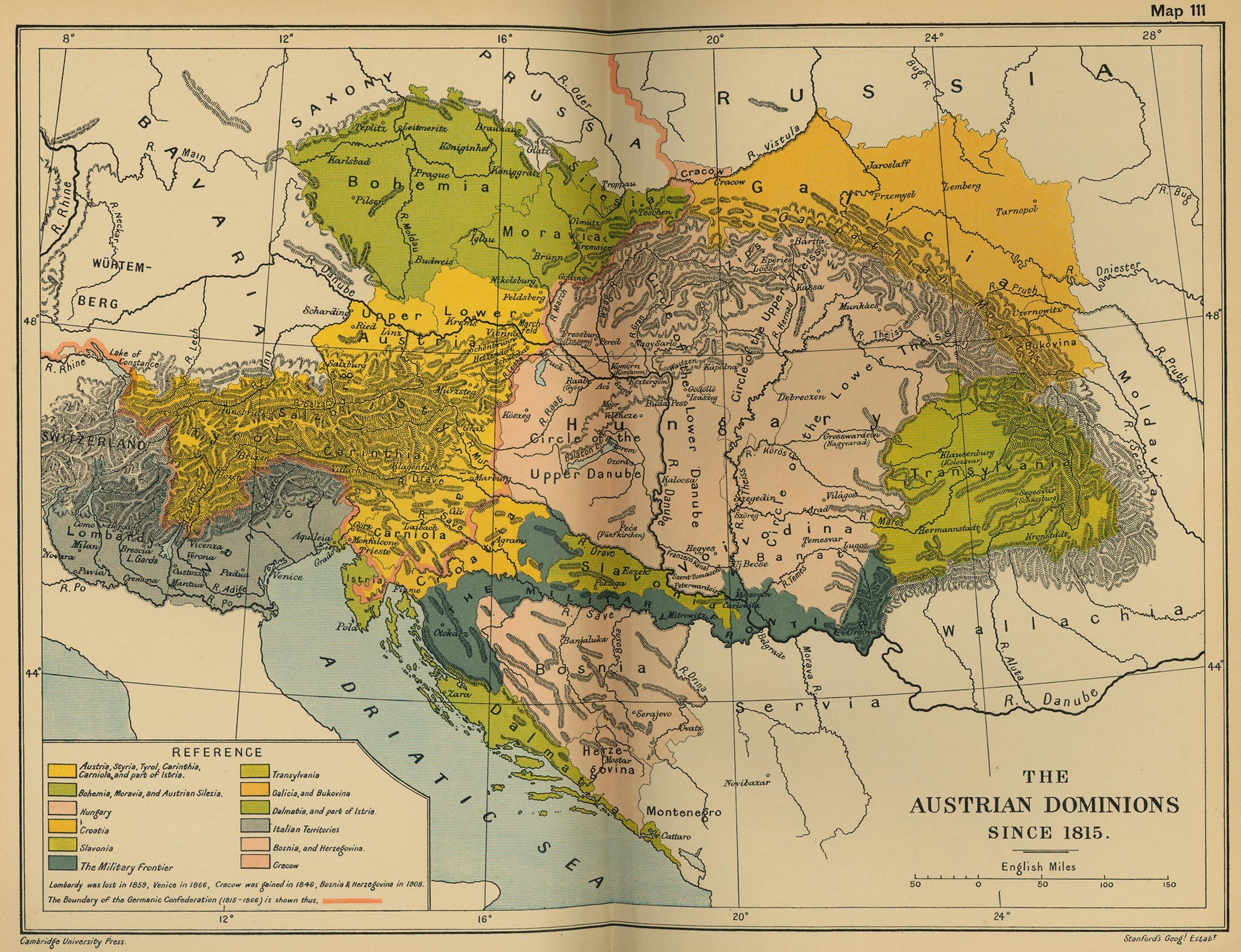 Los dominios austríacos desde 1815