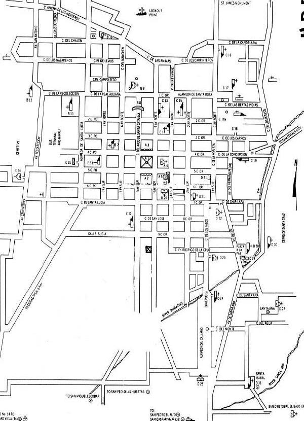 Mapa Ciudad de Antigua Guatemala