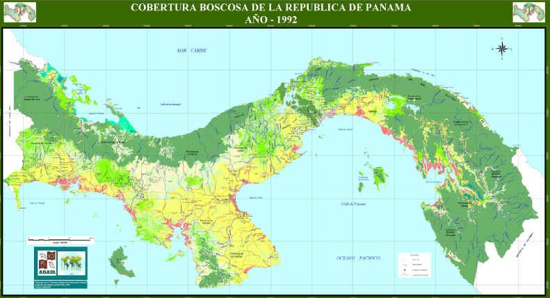 Mapa Cobertura Boscosa de Panamá