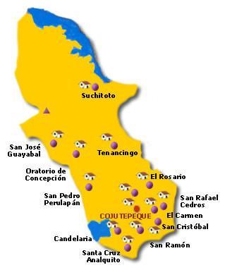 Mapa Departamento Cuscatlán, El Salvador