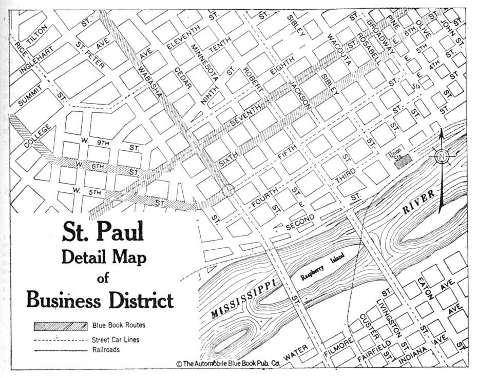 Saint Paul Detail Map, Minnesota, United States 1920