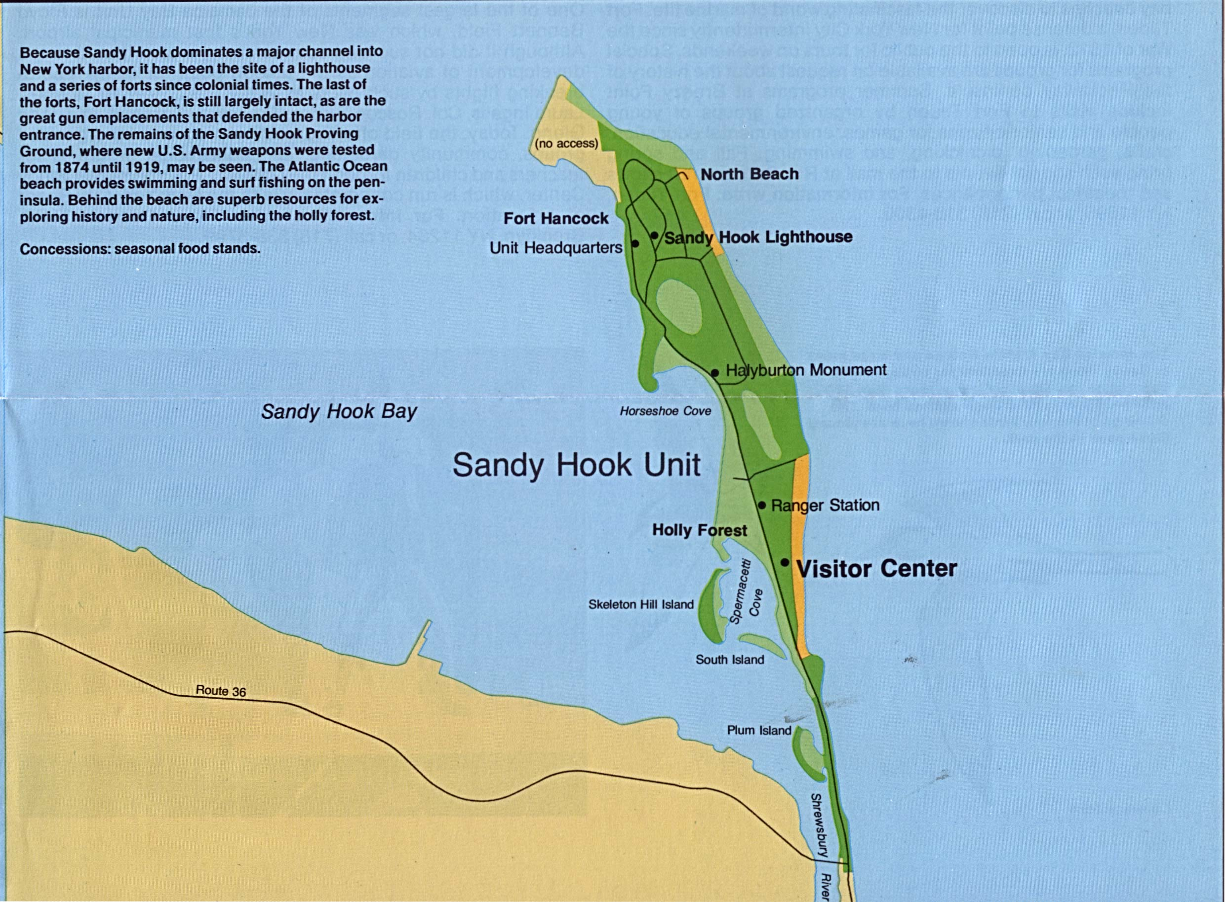 Maps of Detail Map of Sandy Hook, Gateway National ...