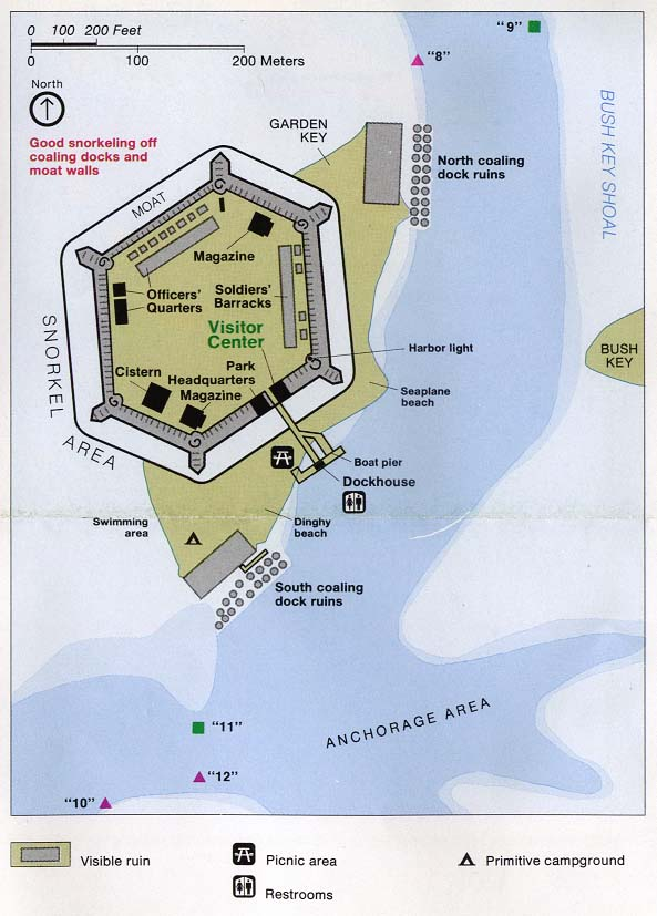 Fort Jefferson Detail Map, Florida, United States