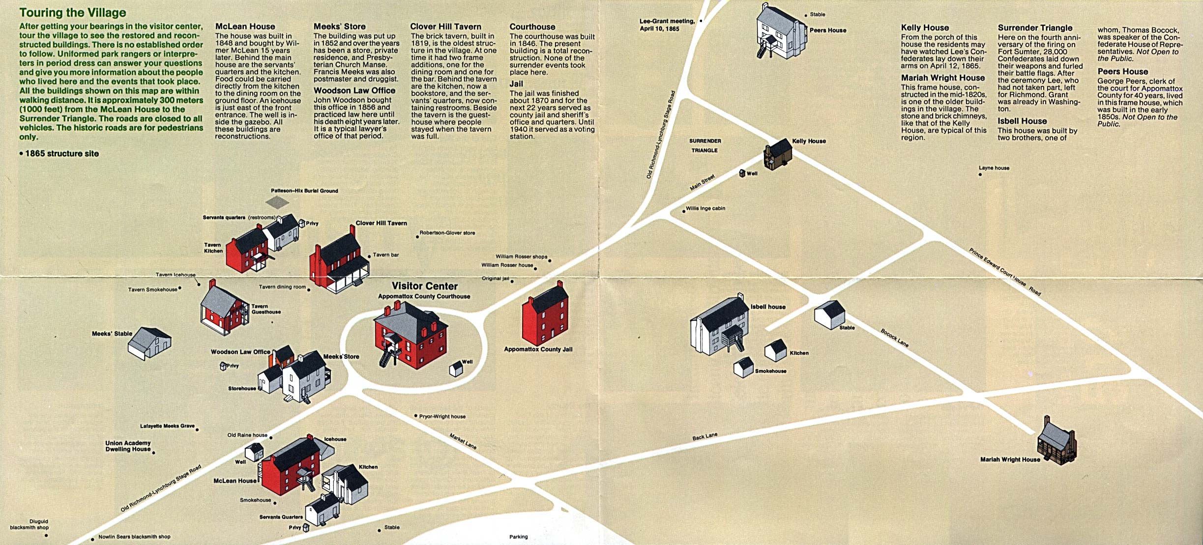 Schematic Map of Appomattox Court House National Historic Park, Virginia, United States