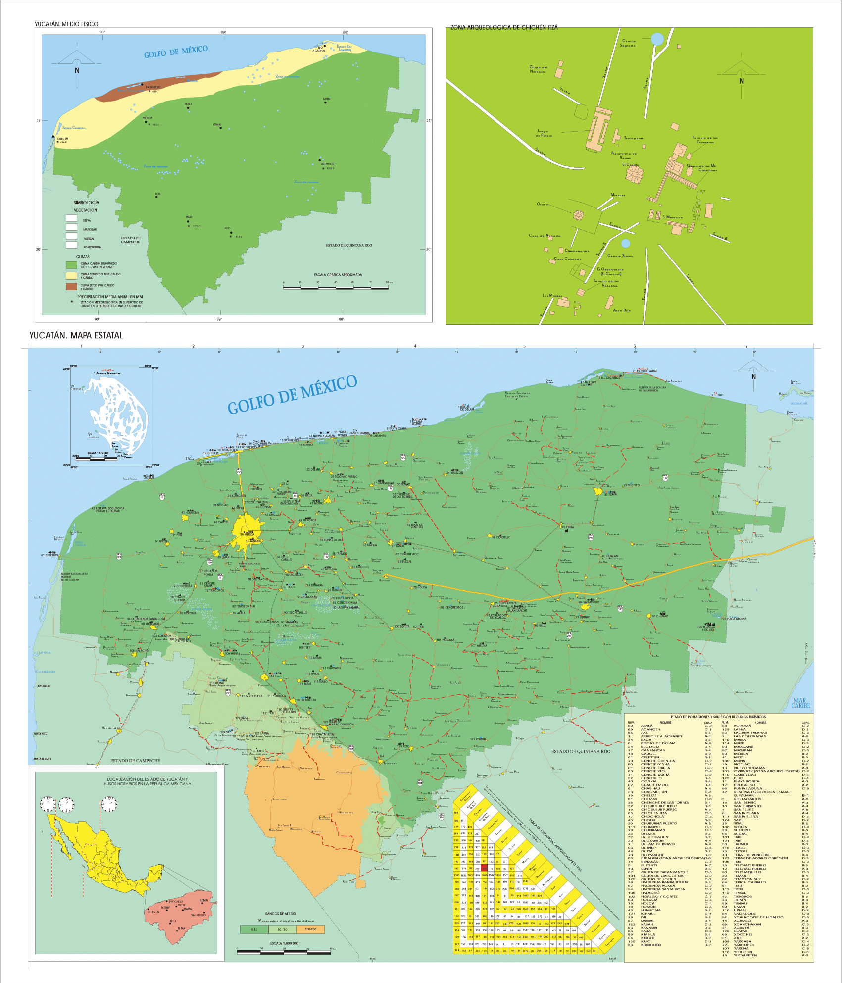 Tlaxcala State Map, Mexico
