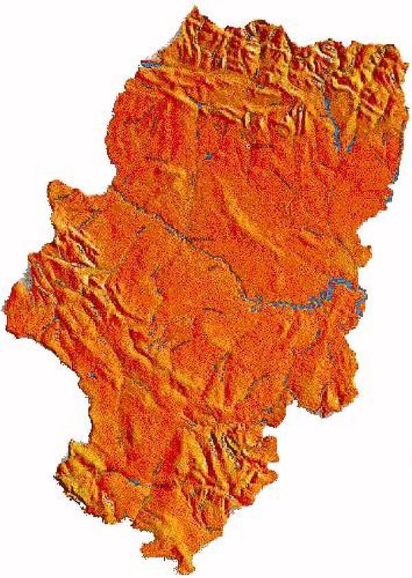 Mapa Físico de Aragón