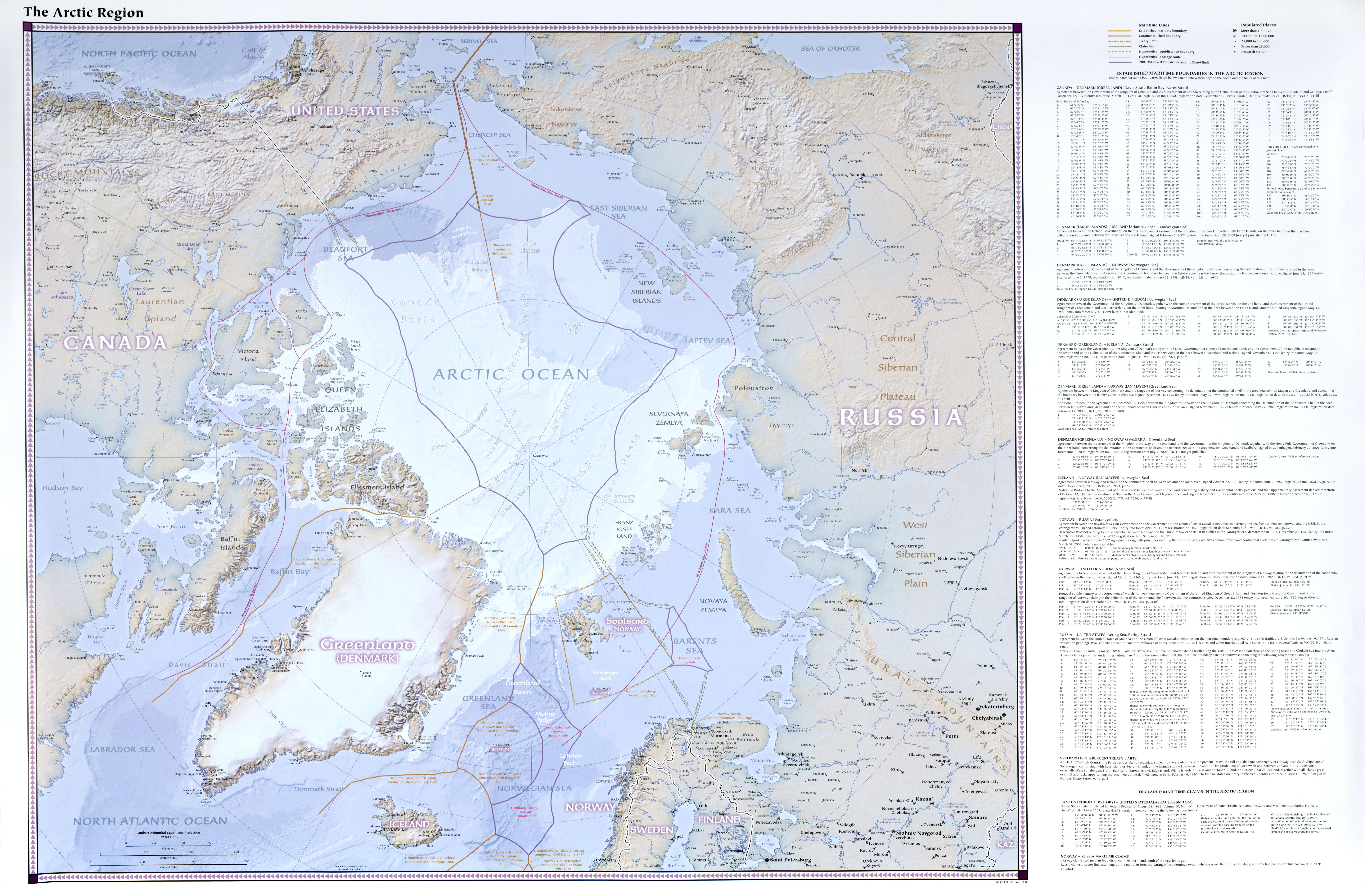 Mapa Físico del Ártico 2008
