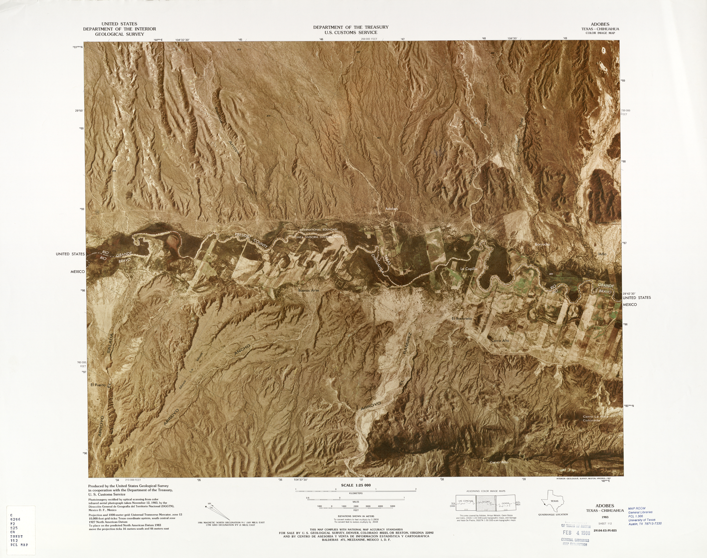 Mapa Fronterizo de México-Estados Unidos, Adobes 1983