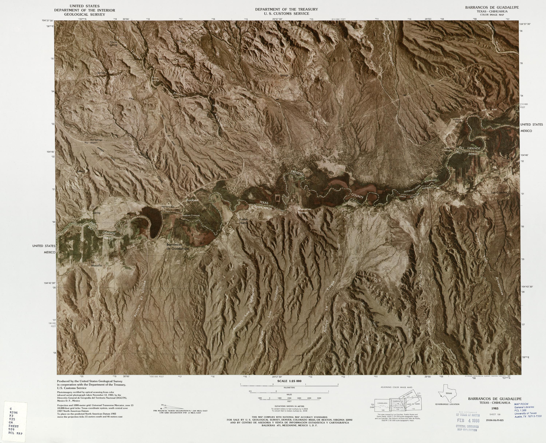 Mapa Fronterizo de México-Estados Unidos, Barrancos De Guadalupe 1983