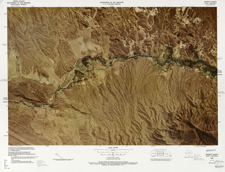 Mapa Fronterizo de México-Estados Unidos, Bennett Ranch 1982
