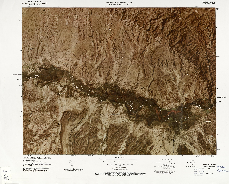 Mapa Fronterizo de México-Estados Unidos, Bramlett Ranch 1983