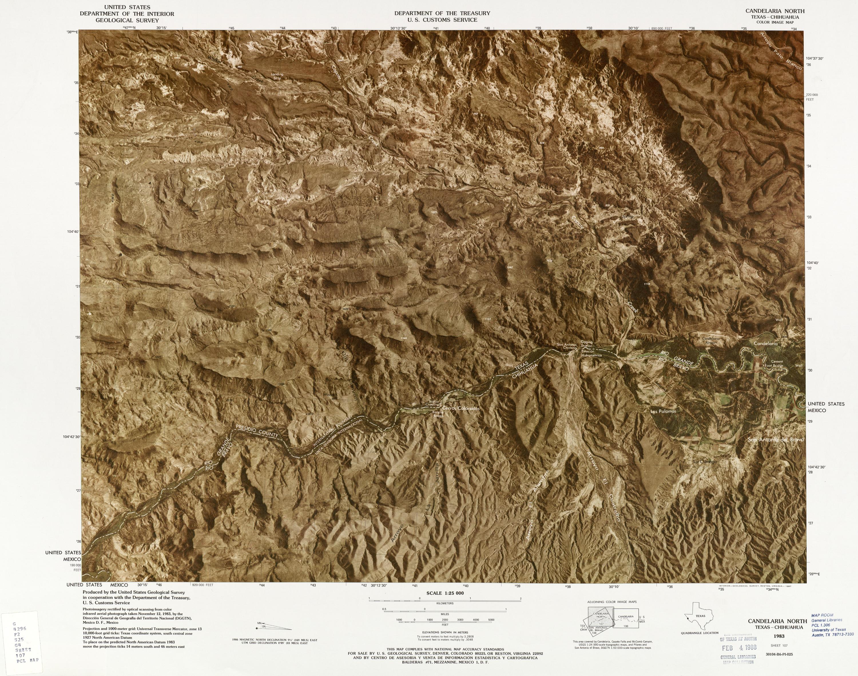 Mapa Fronterizo de México-Estados Unidos, Candelaria Norte 1983