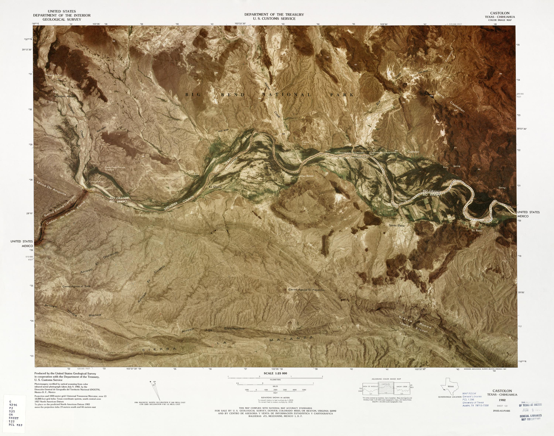 Mapa Fronterizo de México-Estados Unidos, Castolon 1982