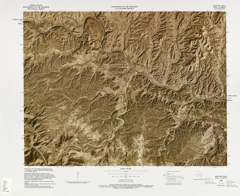 Mapa Fronterizo de México-Estados Unidos, Cerro Shafter 1982