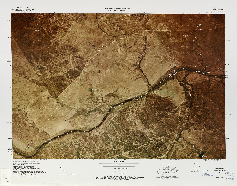 Mapa Fronterizo de México-Estados Unidos, Chupadera 1982