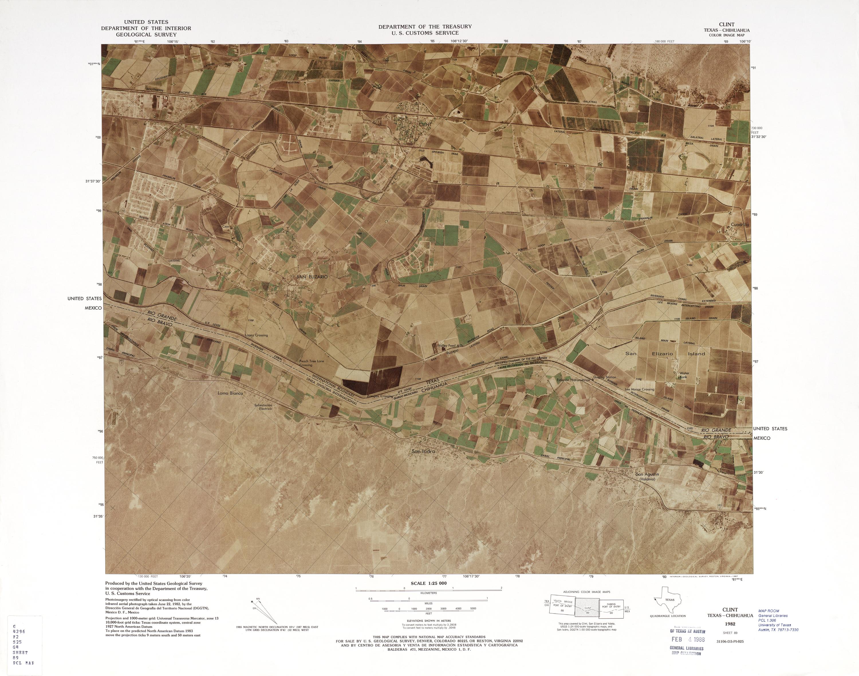 Mapa Fronterizo de México-Estados Unidos, Clint 1982