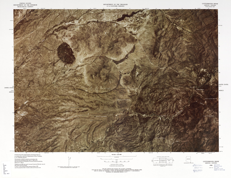 Mapa Fronterizo de México-Estados Unidos, Cottonwood Draw 1982