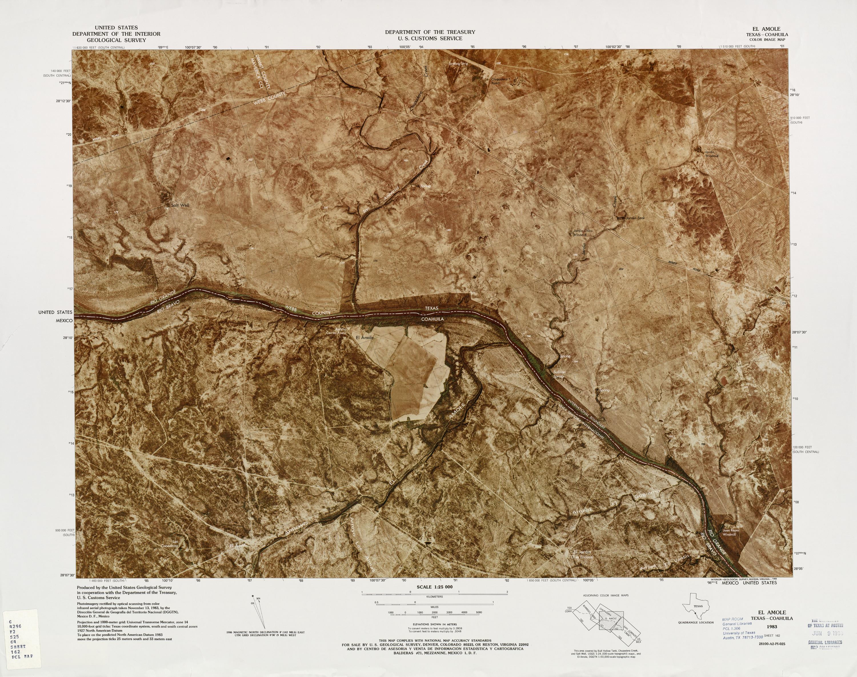 Mapa Fronterizo de México-Estados Unidos, El Amole 1983