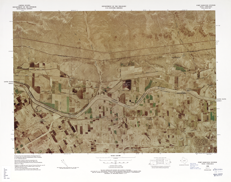 Mapa Fronterizo de México-Estados Unidos, Fort Hancock Station 1982