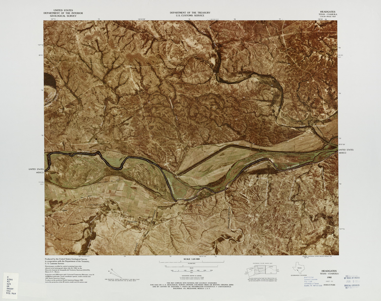 Mapa Fronterizo de México-Estados Unidos, Headgates 1982