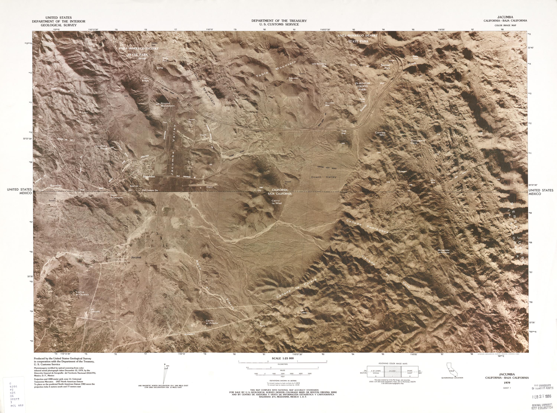 United States-Mexico Border Map, Jacumba