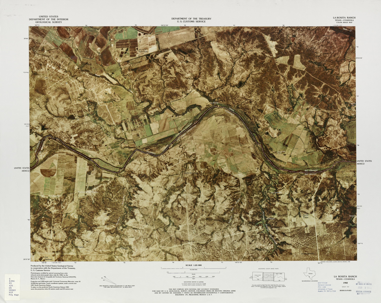 United States-Mexico Border Map, La Rosita Ranch