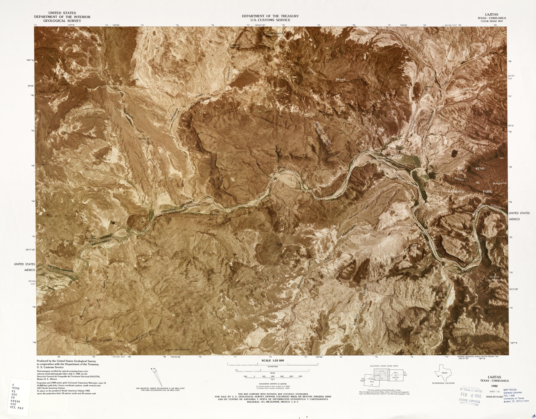 United States-Mexico Border Map, Lajitas