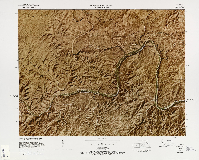 Mapa Fronterizo de México-Estados Unidos, Langtry 1983